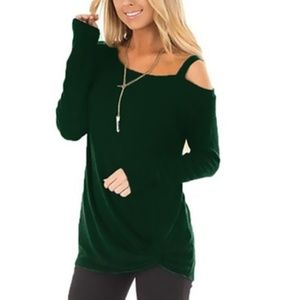 Leo Rosi Kendra knit Top one Cold Shoulder Style
